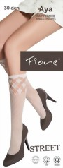 Fiore - Patterned fishnet knee highs Aya 30 denier