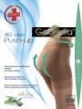 Gabriella - Bum shaping tights Push Up, 40 DEN, mocca, size L
