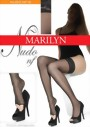 Marilyn - Open toe hold ups Nudo 15 denier, beige, size S/M