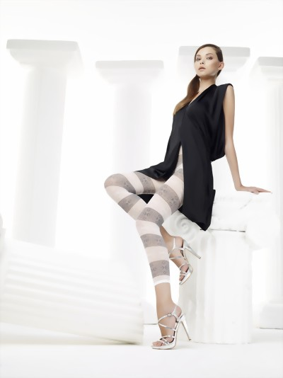 Omero - Black and white patterned summer legging Soleil